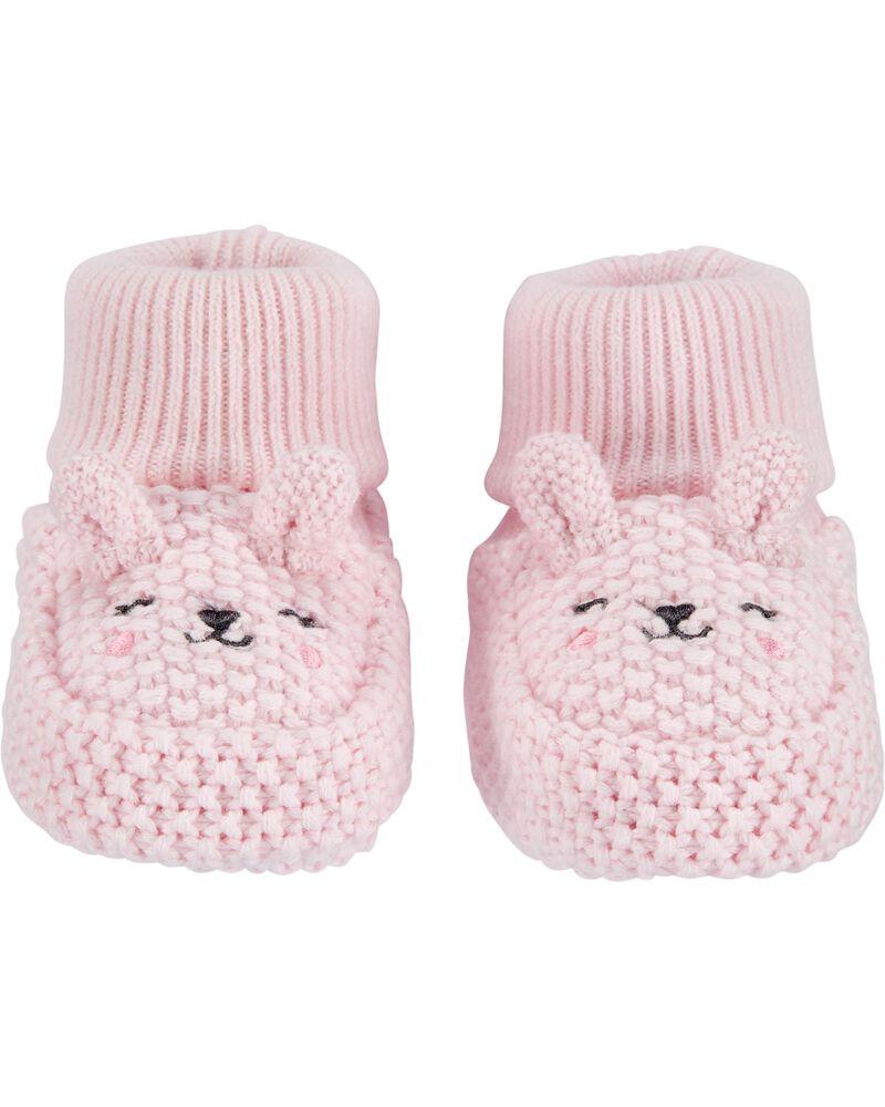 Bunny Baby Booties, , hi-res