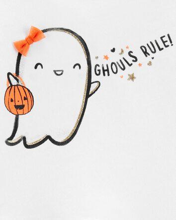 2-Piece Halloween Ghost Top & Leggi...