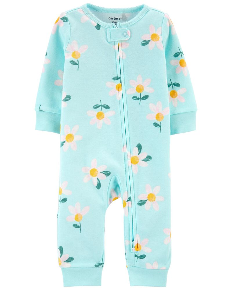 Daisy Zip-Up Footless Sleep & Play, , hi-res