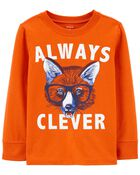 Always Clever Fox Jersey Tee, , hi-res