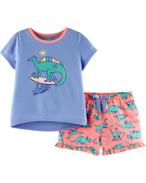 Pyjama 2 pièces dinosaure surfeur
