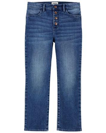 Jeans à taille haute et jambe évasé...