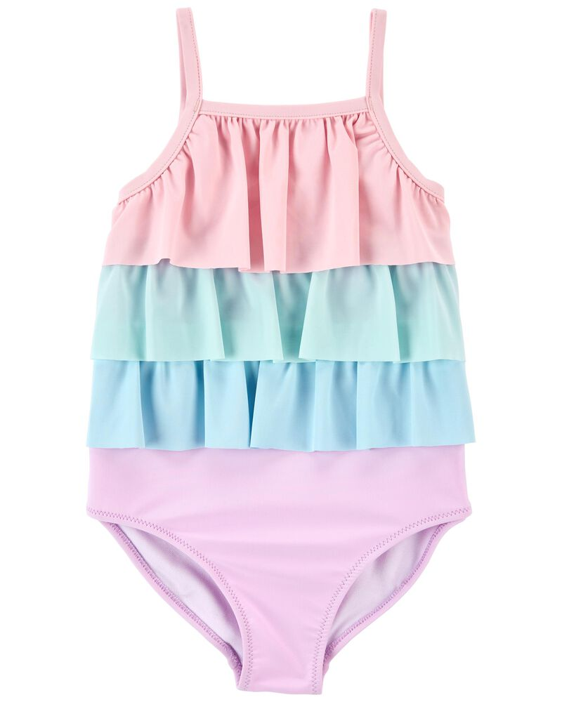 Ruffle 1-Piece Swimsuit, , hi-res