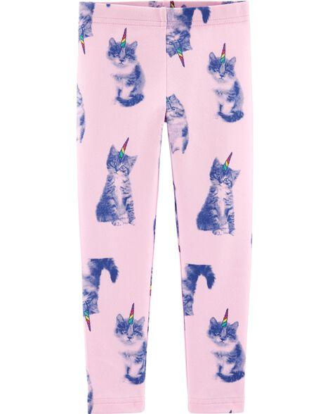 Legging en jersey à chat licorne