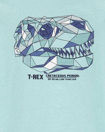 T-shirt en jersey à crâne de dinosa...