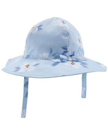 Chapeau de soleil fleuri