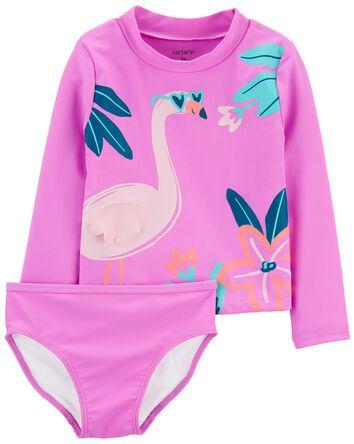 Flamingo 2-Piece Rashguard Set