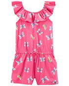 Butterfly Jersey Romper, , hi-res