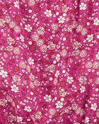 Barboteuse en popeline fleurie, , hi-res