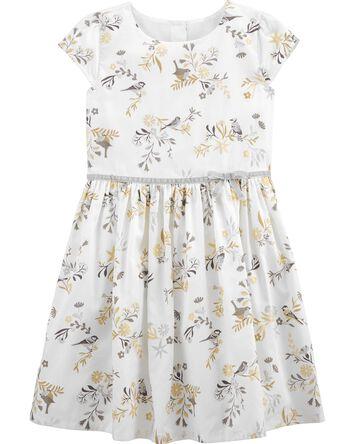 Floral Woven Sateen Dress