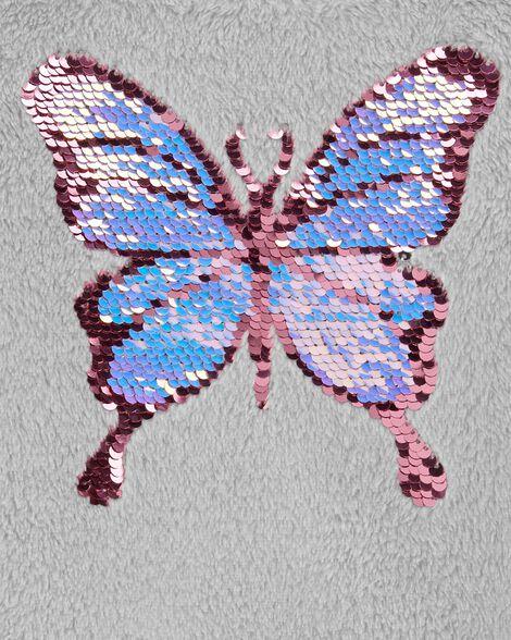 Flip Sequin Butterfly Fuzzy Sweater