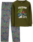 Pyjama 2 pièces en molleton et coton ajusté, , hi-res