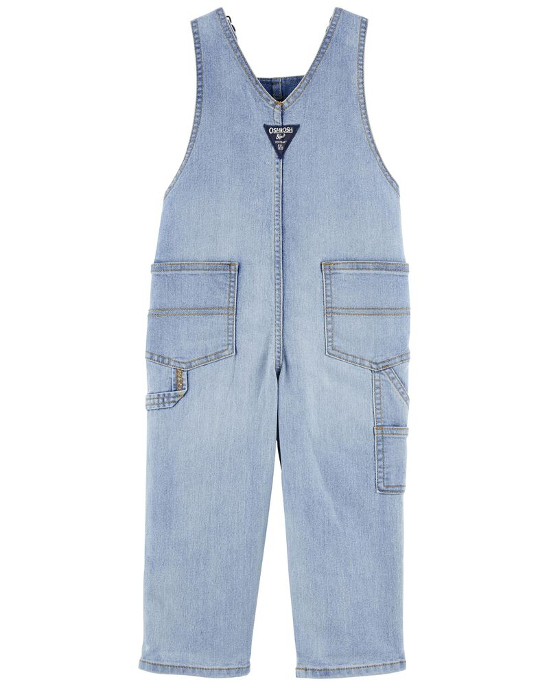 Stretch Denim Overalls, , hi-res