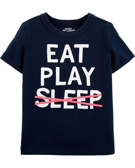 T-shirt à imprimé original Eat Play Sleep
