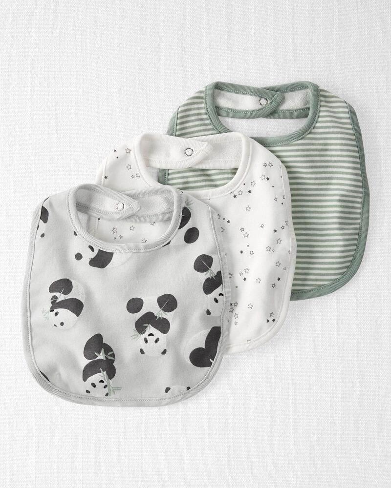3-Pack Organic Cotton Bibs, , hi-res