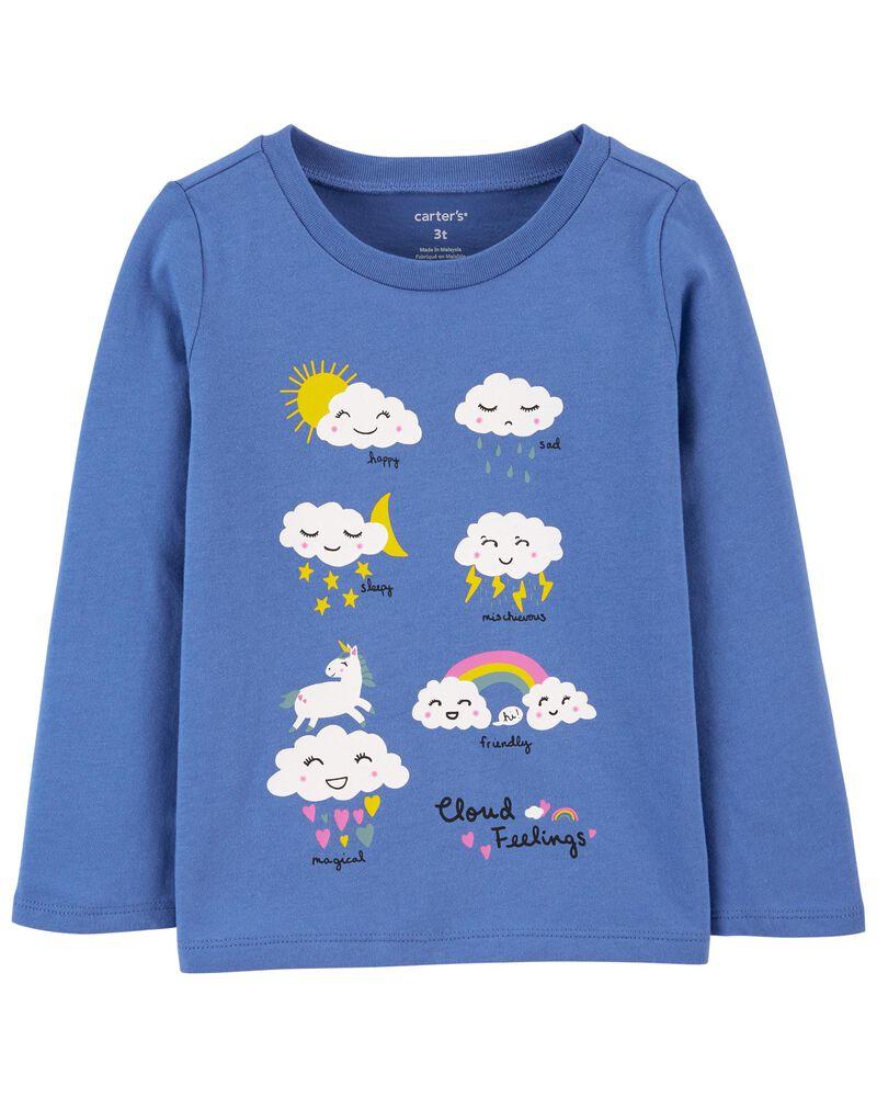 T-shirt en jersey à nuage, , hi-res