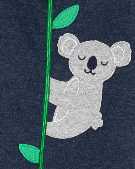 1-Piece Koala Snug Fit Cotton/Poly Footie PJs