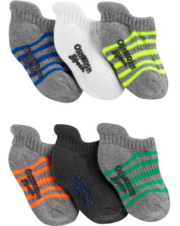 6-Pack Striped Ankle Socks