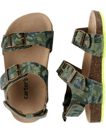 Sandales en liège camouflage