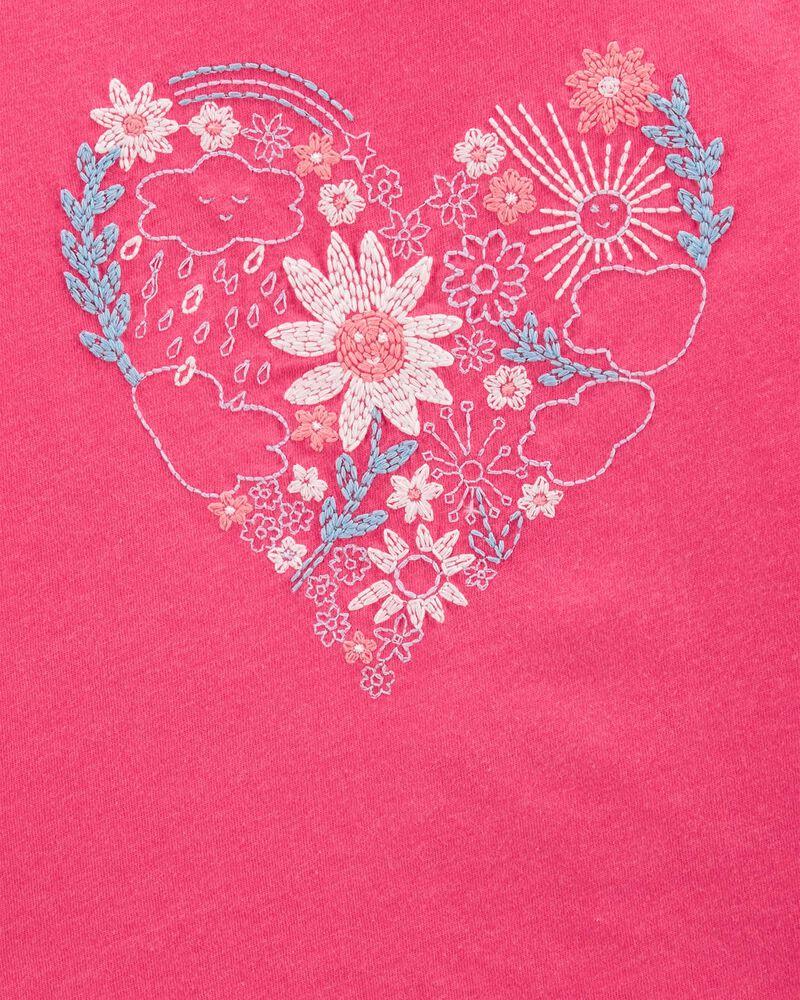 Flower Heart Hi-Low Top, , hi-res