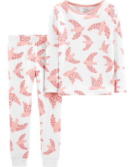 2-Piece Birds Certified Organic Snug Fit Cotton PJs