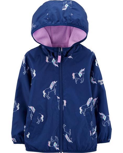 Reversible Unicorn Print Midweight Jacket