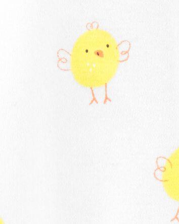 Chick Zip-Up Cotton Footie Sleep &...
