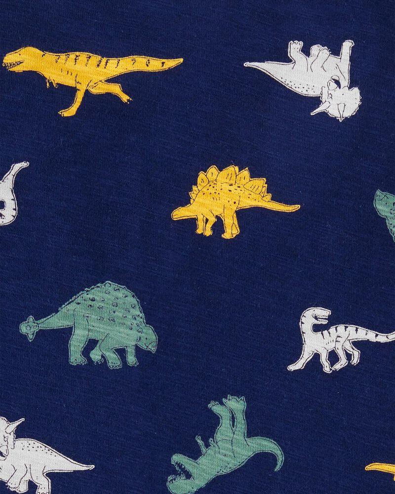 T-shirt henley en jersey flammé dinosaure, , hi-res