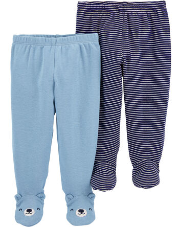 2-Pack Cotton Footed Pants