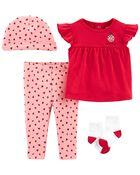 4-Piece Ladybug Outfit Set, , hi-res