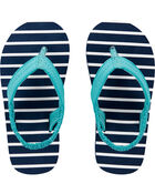 Striped Flip Flops, , hi-res