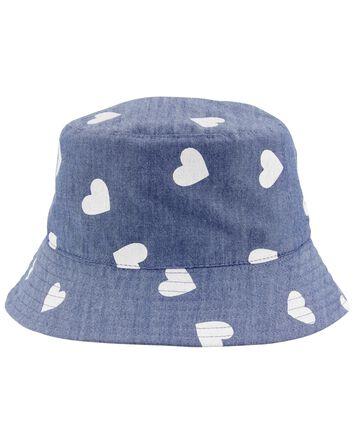 Chapeau cloche en chambray