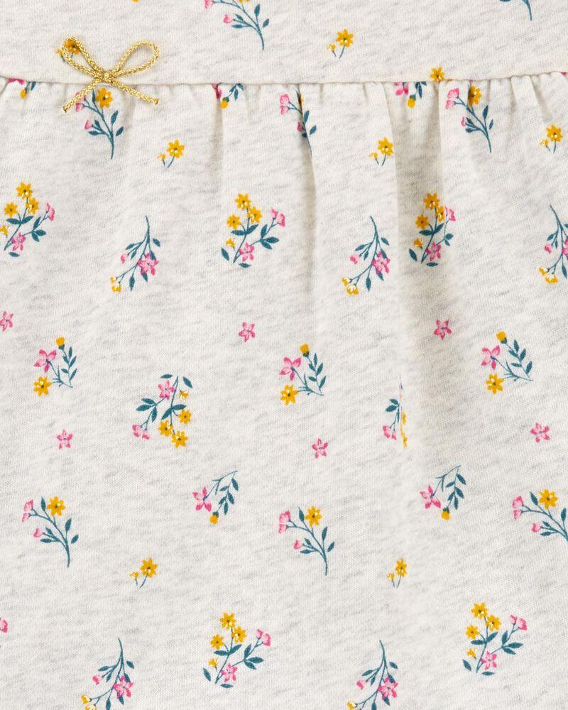 2-Piece Floral Fleece Top & Metallic Legging Set, , hi-res