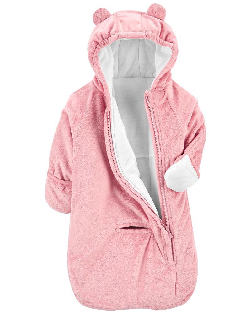 Combinaison pour bébés en tissu pelucheux, , hi-res