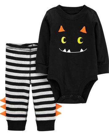2-Piece Halloween Monster Bodysuit...