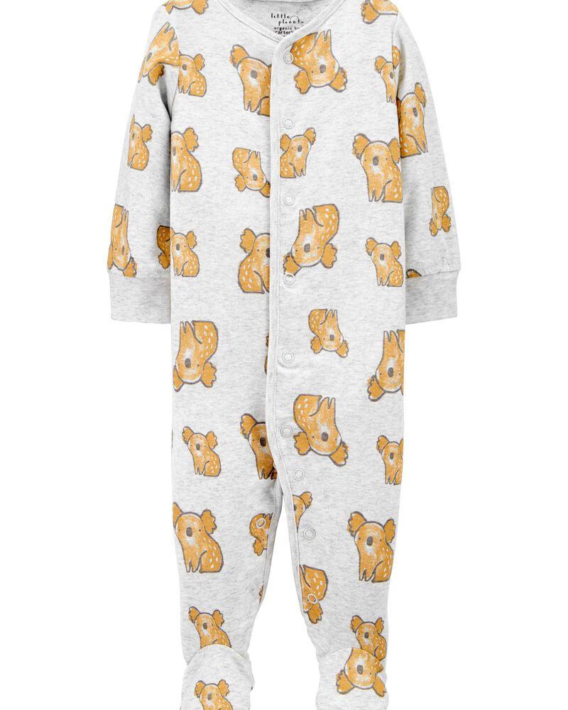Certified Organic Cotton Koala Snap-Up Sleep & Play, , hi-res