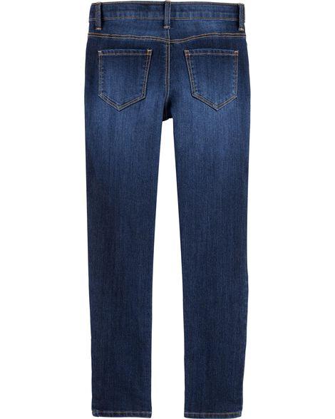 Jeans ultra étroit - délavage bleu marin