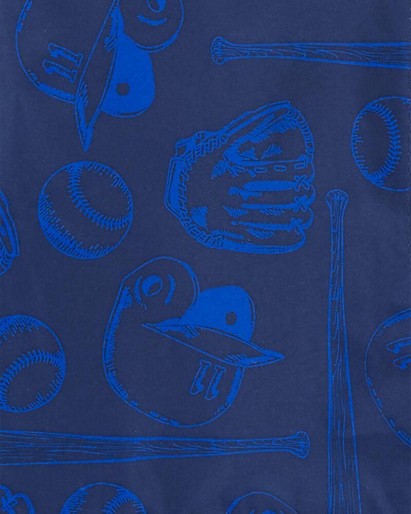 Fleece-Lined Baseball Rain Jacket, , hi-res