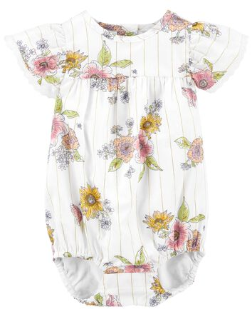 Sparkle Floral Ruffle Bodysuit