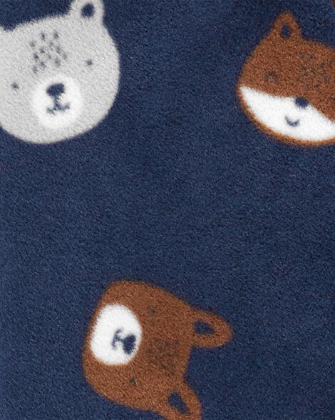 Animals Zip-Up Fleece Sleep & Play