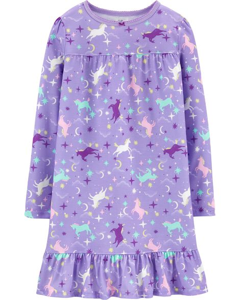 Robe de nuit licorne