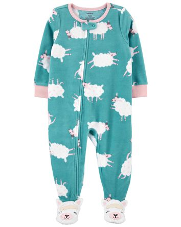 1-Piece Sheep Fleece Footie PJs