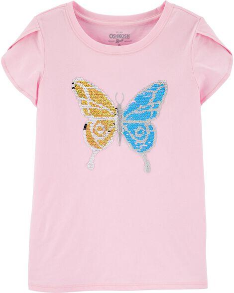 Haut papillon à paillettes réversibles