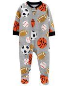 1-Piece Sports 100% Snug Fit Cotton Footie PJs, , hi-res