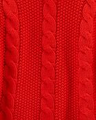 Cable Knit Poncho, , hi-res