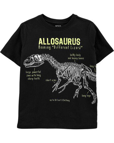 T-shirt en jersey à squelette de dinosaure