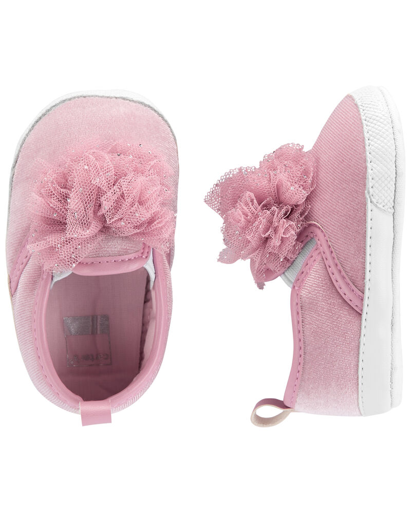 Chaussures souples pour bébé avec pompon, , hi-res