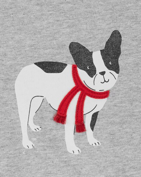 Christmas French Bulldog Jersey Top