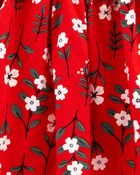 Floral Twill Dress, , hi-res