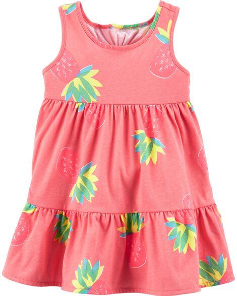 Sleeveless Pineapple Dress